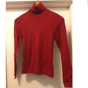 Womens Red Turtleneck Sweater
